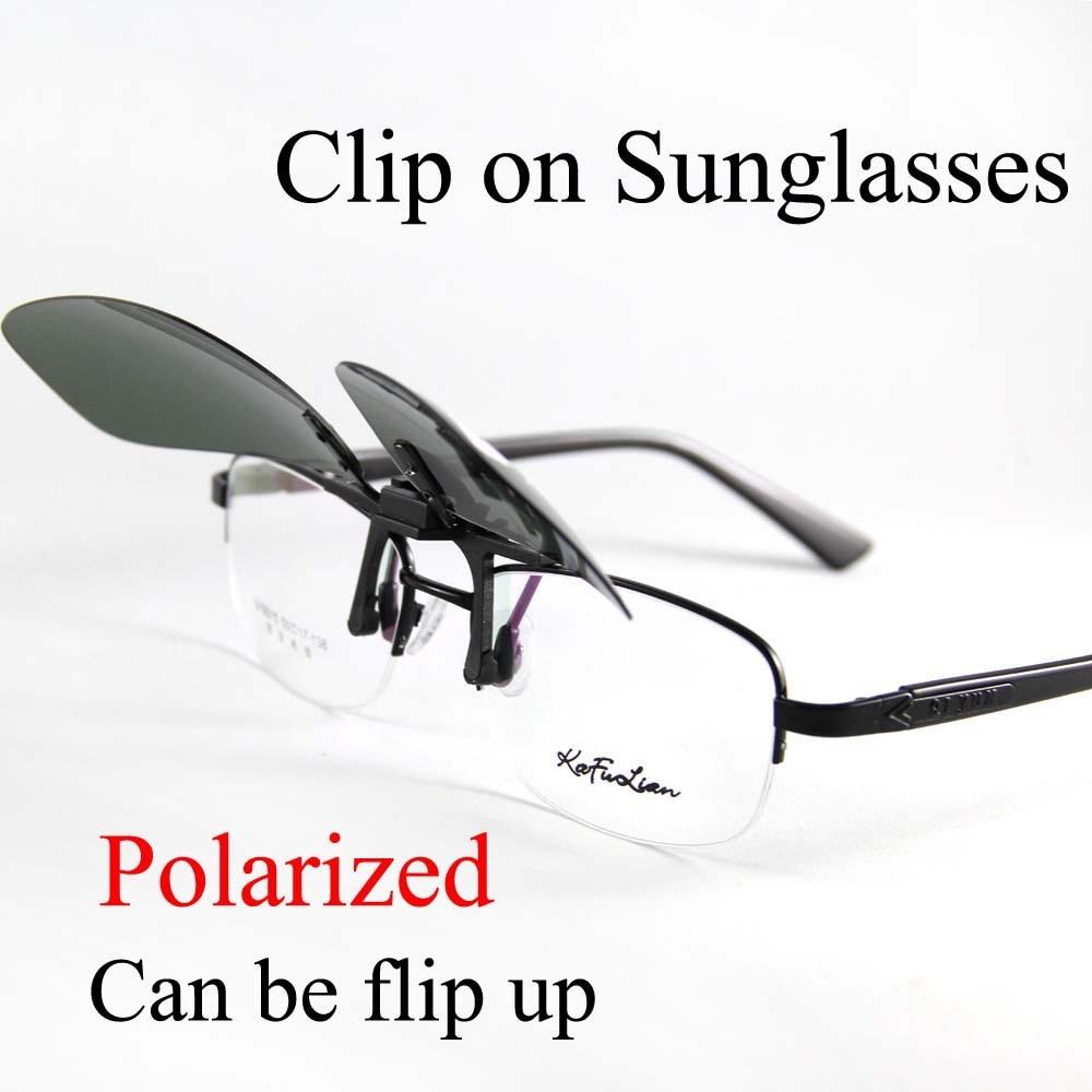 New Fashion Men Polarized UV 400 Clip-on Flip-up Driving Glasses Sunglasses MH