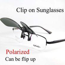 Può Essere Flip Up Clip su Occhiali Da Sole Polarizzati Degli Uomini Occhiali Da Sole Delle Donne di Colore Giallo di Visione Notturna Occhiali Da Vista UV Rui Hao Occhiali di marca
