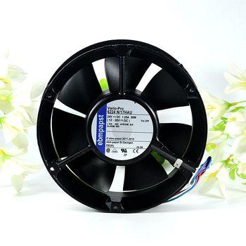 ebmFor PAPST 6224 N/17HAU 6224N/17HAU DC 24V 1.25A 172x172x51mm Server Round fan