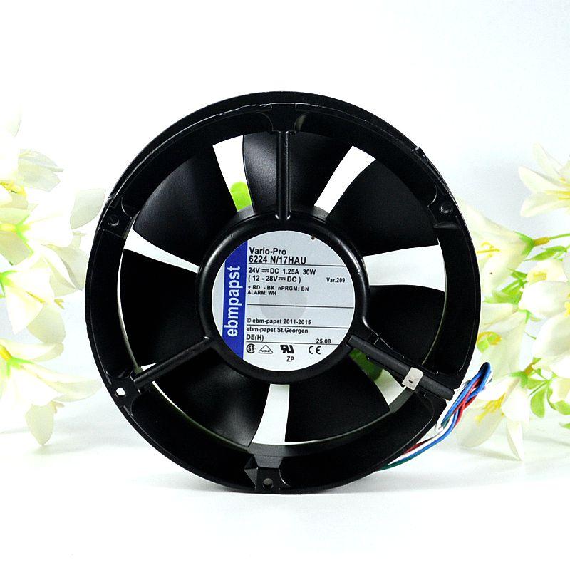 ebmpapst 6224 N/17HAU 6224N/17HAU DC 24V 1.25A 172x172x51mm Server Round fan цена