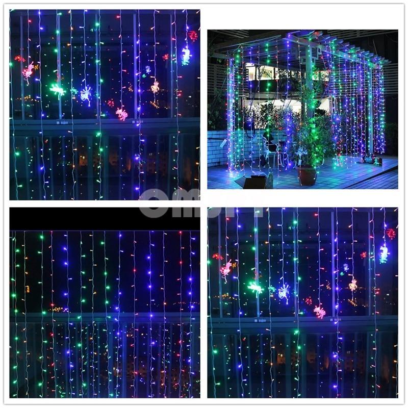LED ფარდის სიმებიანი შუქები - სადღესასწაულო განათება - ფოტო 5