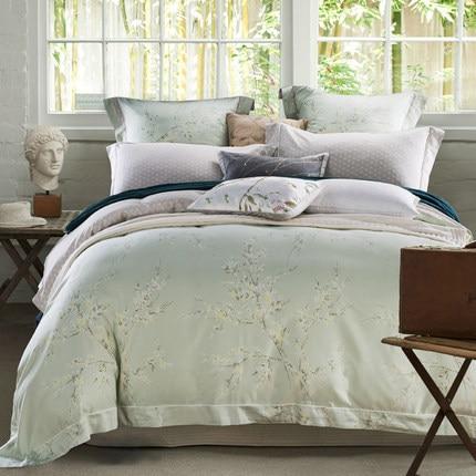 Attractive High Class Luxury Bed Sheet Set, Simple Design Bedsheet Set ,jacquard  Bedding Set