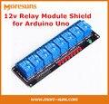 10 pçs/lote 8 Canal módulo de relé módulo de driver de relé MCU countrol módulo placa 12 V Módulo Protetor para Arduino Uno