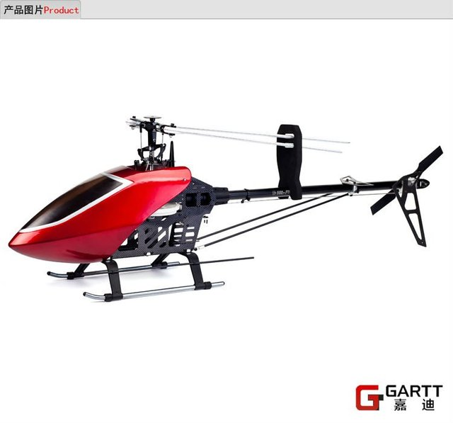Gartt 550 FBL TT 2.4 GHz 3D Torque Tube helicóptero adapta Align Trex 550