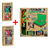 3Pcs Lot StikBot Z Animation Studio StikBot Weapon Hari Styling Action Pack Role Play Accessory Stikbox