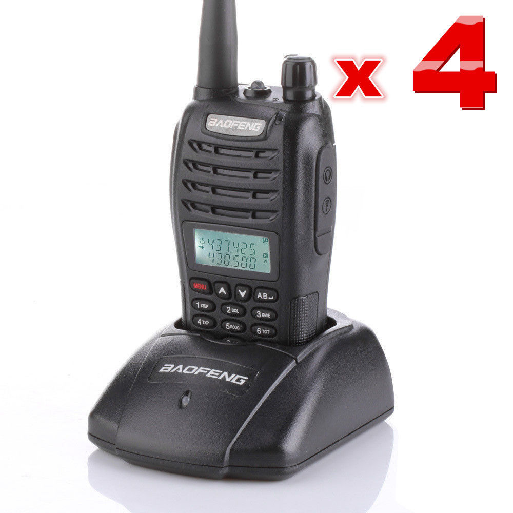 bilder für 4-sets BAOFENG UV-B6 VHF/UHF 136-174/400-470 MHz Doppelbandradio Walkie Talkies