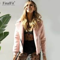 FinalFit Jacket Women Faux Shearling Winter Women Jacket Coat Female Jaqueta De Couro