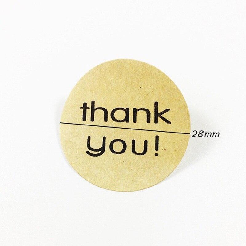 Купить с кэшбэком 120pcs/lot 'THANK YOU' Series Round Kraft Paper Seal Stickers DIY Gift Baking Handmade Product Decoration Stickers Scrapbooking