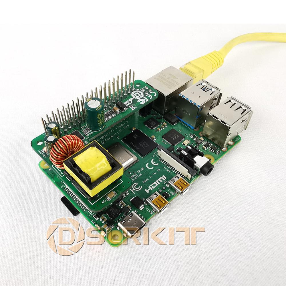 lowest price DSLRKIT Raspberry Pi 4 4B 3B  3B Plus Power Over Ethernet PoE HAT IEEE802 3af DC 5V 2 5A