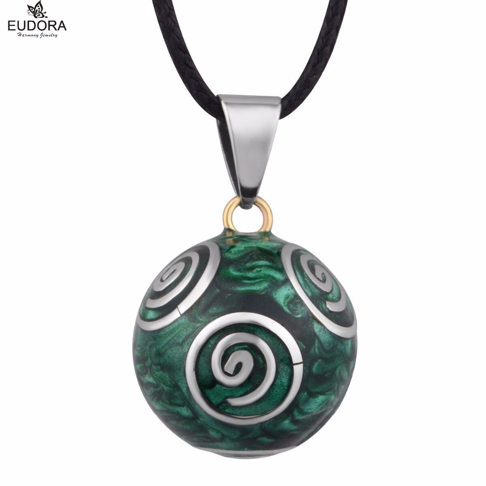 Mexican Bola Green Vintage Sounds Pendant Pregnancy necklace for font b Pregnant b font Baby Caller