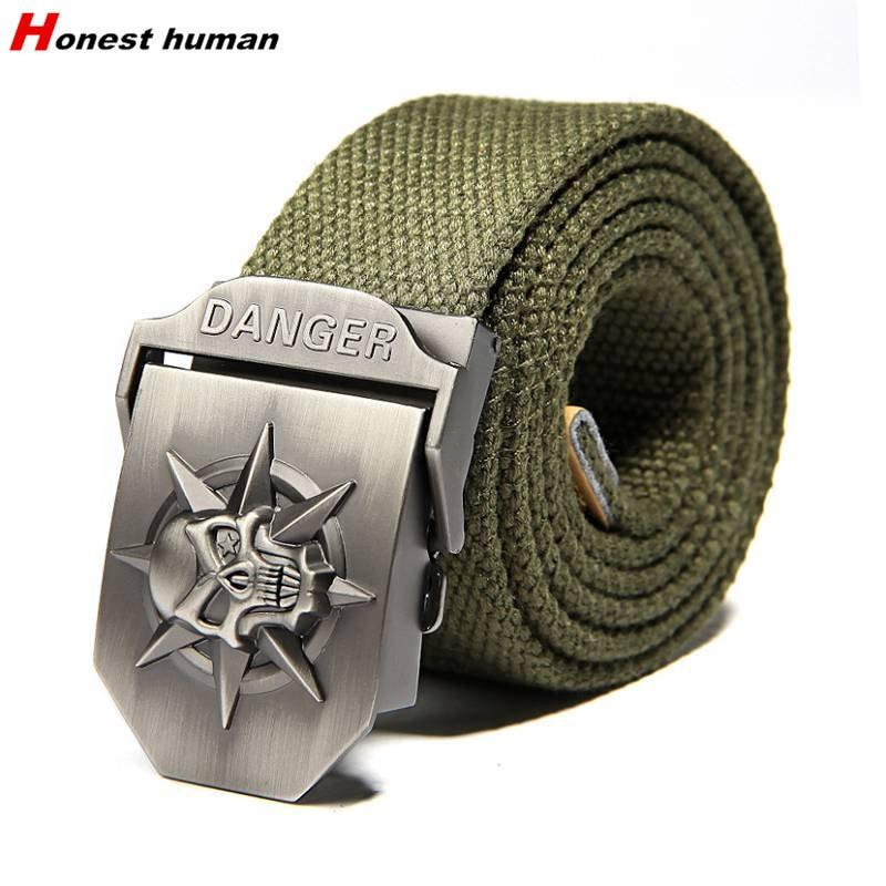2018 hommes femmes Casual ceinture Squelettes boucle épaissir Armée ceinture  tactique ceinture haute qualité sangle automatique ceinture cintos 782671adeb5