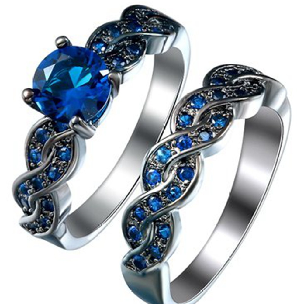 products gold engagement wedding stone blue ring sapphire and rings white diamond three