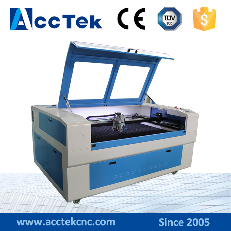 thin metal sheet CO2 laser cutting machine AKJ1390H metal laser cutter