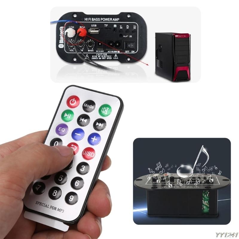 Caméra amplificateur de basse Hi-Fi   Kit de voiture 25W, caisson de basses, pour voiture, Audio TF USB 220V/12V/24V, télécommande 2.1 + EDR Bluetooth