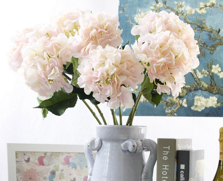 12pcs simulation flower hydrangea artificial flowers silk flowers 12pcs simulation flower hydrangea artificial flowers silk flowers vase fake home wedding decoration in artificial dried flowers from home garden on mightylinksfo