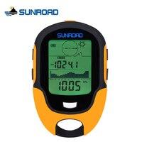 SUNROAD IPX4 À Prova D' Água Digital LCD Bússola Altímetro Barômetro Relógio Mini Portátil Para Ao Ar Livre de Acampamento de Pesca Caminhadas Relogio