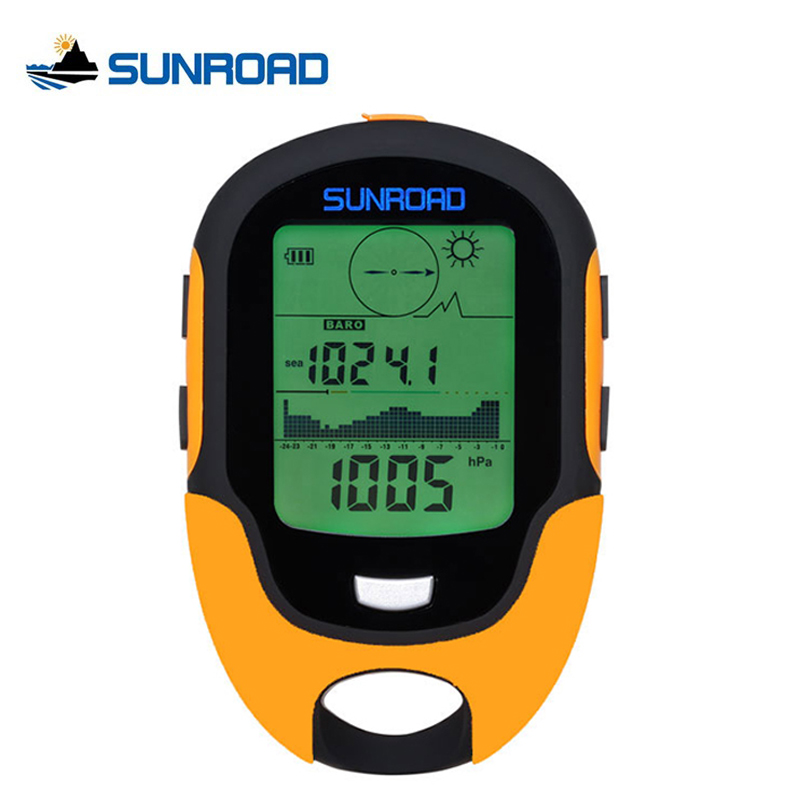 SUNROAD IPX4 Waterproof LCD Digital Compass Watch Mini Portable Altimeter Barometer For Outdoor Fishing Camping Hiking Relogio 8 in 1 digital lcd compass altimeter barometer thermo temperature clock calendar for outdoor hiking fishing