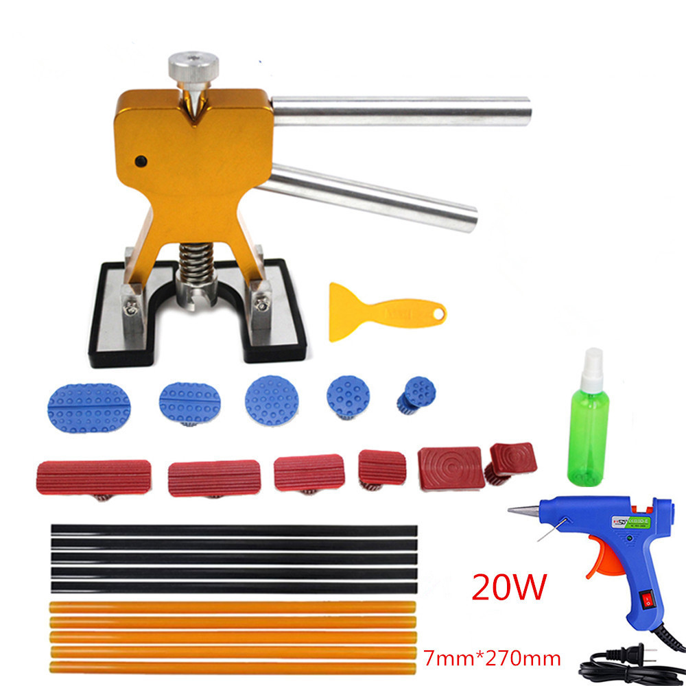PDR Tools Paintless Car Dent Repair Tool Dent Removal Dent Puller Tabs Dent Lifter PDR Tool Kit ToolKit Hand Tool Set dent puller kit pdr tools paintless dent repair removal tool car straightening instruments hand tool set ferramentas suction cup