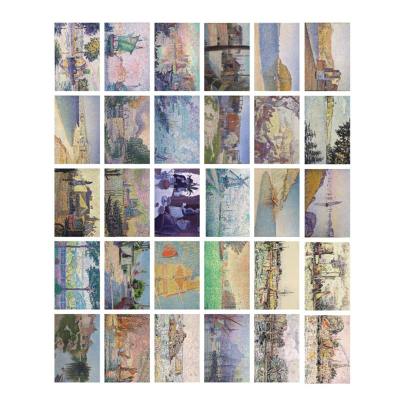 30pcslot mottled impression 19th century oil painting postcard birthday greeting card message card new year gift card bookmark in cards invitations from
