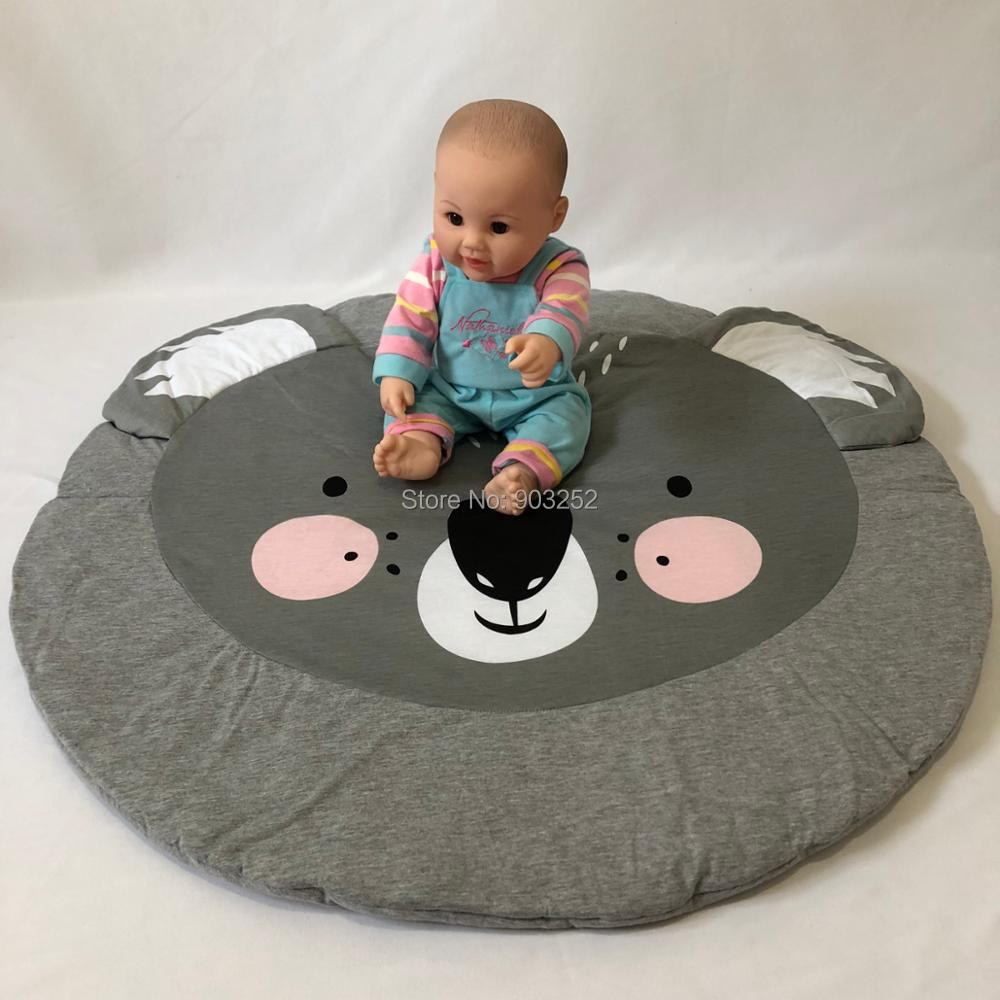95 см детская игра коврики круглый коврик, мат хлопок Лебедь Ползания одеяло пол ковер для детской комнаты украшения INS подарки для малышей