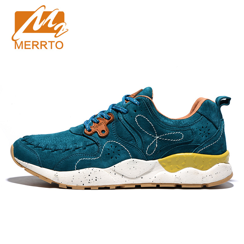 MERRTO Breathable Leather Running Shoes Outdoor Sports Women Running Sneakers Outdoor Sports Athletic Shoes Zapatos De Hombre free shipping nike air vapormax flyknit breathable women men s running shoes sports sneakers outdoor athletic shoes eur 36 47