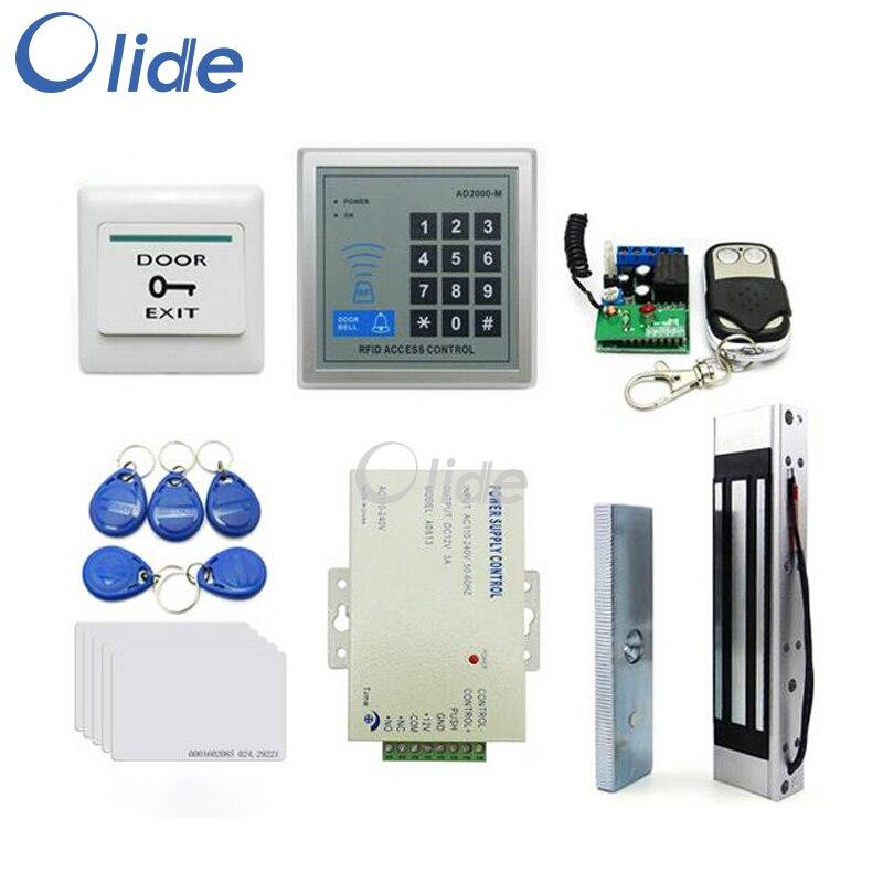 Toegangscontrole Complete Kit Voor Enkele Frameloze Deur Met Magnetische Lock, Access Toetsenbord, afstandsbediening, stroombron etc - 2