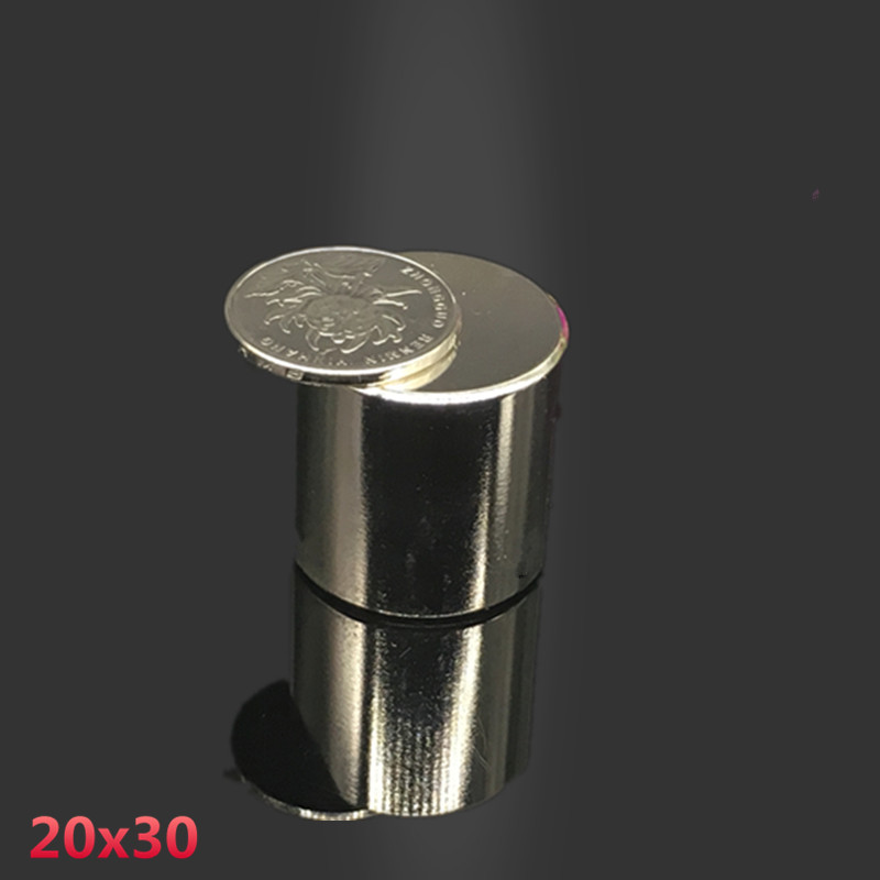 1pcs 20x30mm neodymium magnet 20*30 mm DISC strong rare earth magnets 20mmx30mm NdFeB permanent round strong magnetic 20x30 mm wholesale 1pcs 30mm x 30mm craft model strong rare earth ndfeb magnet 30 30 mm neodymium n52 fridge magnets round sheet