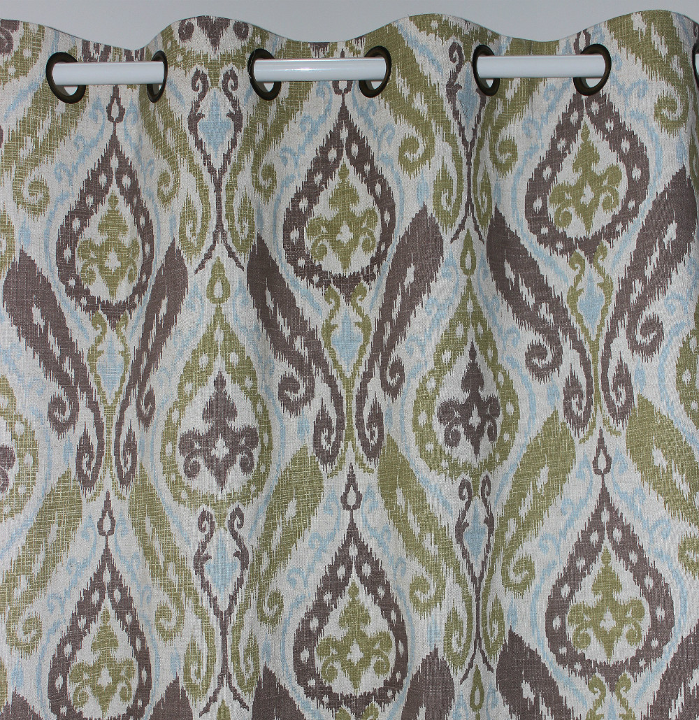 VEZO HOME Paisley Linen Finished Window Curtains Panel Door Bedroom Living  Room Home Decoration Ready Window