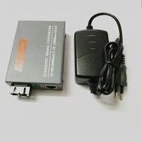 HTB-GM-03 20 KM סיב האופטי Media Converter Gigabit 1000 Mbps יציאת SC Multi-mode דופלקס עם יציאת RJ45 חיצוני אספקת חשמל