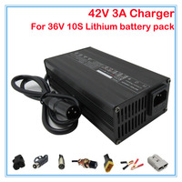 120W High quality 36V 3A Charger Input 110/220V Output 42V 3A for 36V 10S Electric Bike Battery 36V 20AH Lithium battery charger