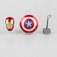 Homem De Ferro vingadores Capitão América Escudo Capacete Thor Martelo Casa E Casa E Decoração Action Figure Toy Collectible Modelo L527