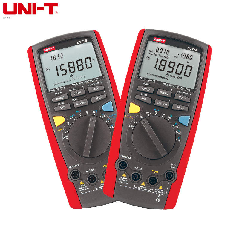 UNI-T UT71A UT71B UT71C UT71D UT71E Intelligent LCD Digital Multimeter AC DC Volt Ampere Ohm Capacitance Temp Meter 932f high temp heat resistant welding gloves bbq oven firebreak aramid fiber work glove