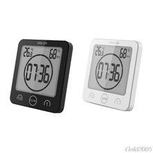 Buy online Digital LCD Large Screen Thermometer Hygrometer Timer Wall Clock Alarm Suction #G205M# Best Quality
