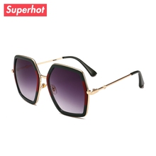 Superhot Sunglasses For Women Oversized Brand Designer Luxury Ladies Sun Glasses Fashion Female Shades Oculos
