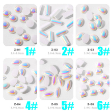 1bag Nail Gem 18 Design False Gems Glitter Accessories 100pc Resin Rhinestone Decoration For Strass Art#