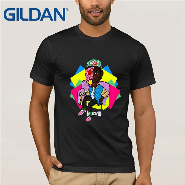 0a954879060e GILDAN DIY Style mens t shirts Odd Future T-Shirt Wolf Gang Tyler The  Creator Earl Drawing Tops Tees White Gray Hip Hop t shirt