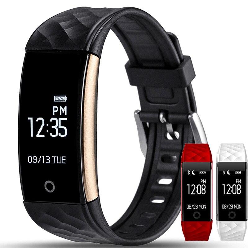 imágenes para S2 bluetooth banda inteligente pulsómetro pulsera smartband pulsera para android ios teléfono ip67 a prueba de agua pk mi banda id107