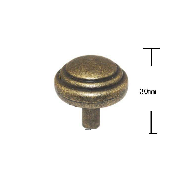 34mm Antique Kitchen Cabinet Knobs and Handles Single Hole Drawer Pulls Cupboard Door Wardrobe Knob Handle Furniture Hardware 10pcs pure copperkitchen cabinet handles and knobs black furniture handle for kitchen cabinet drawer pull 96mm 128mm single hole