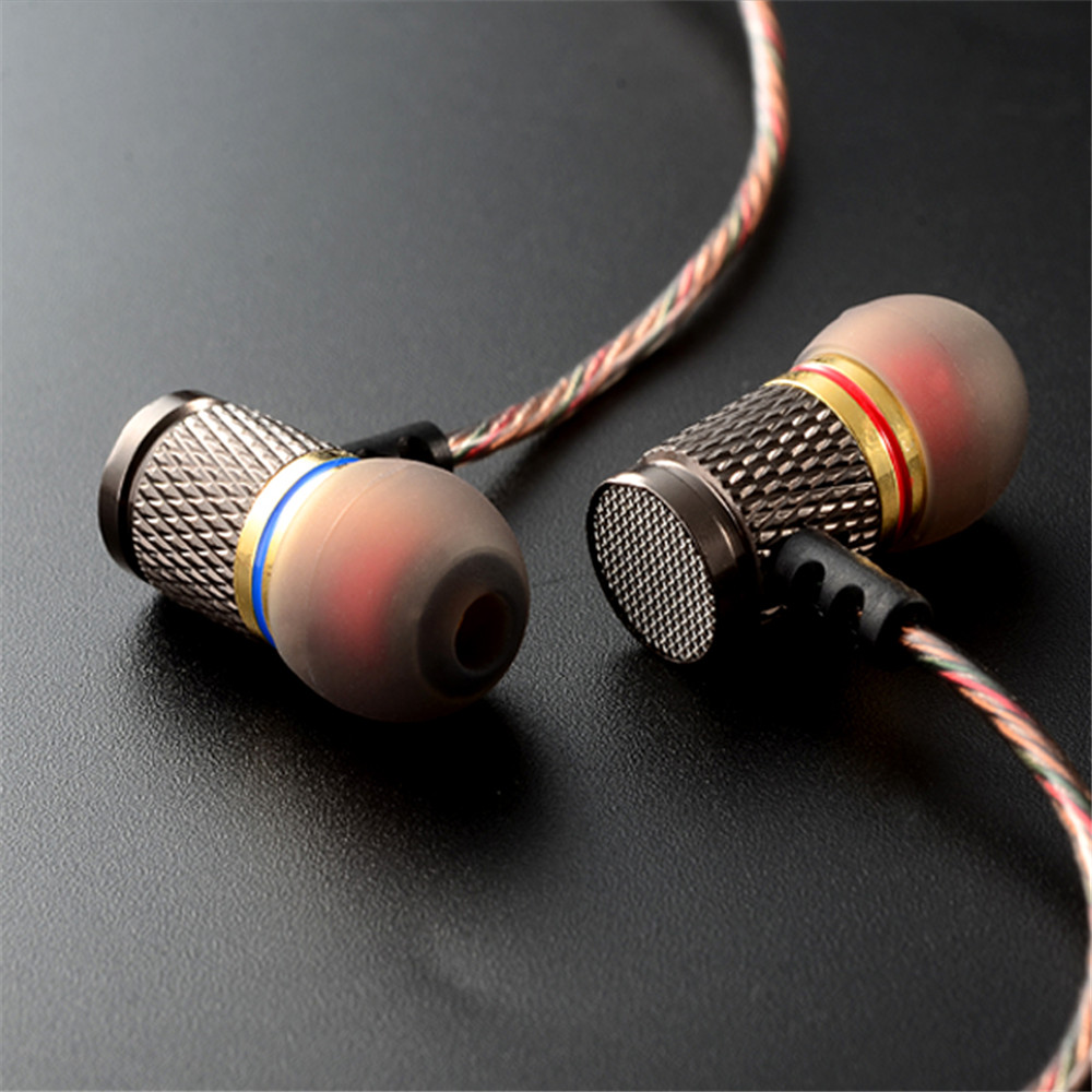 KZ ED2 Stereo Metal Earphones with Microphone Noise Cancelling Earbuds In Ear Headset DJ XBS BASS Earphone HiFi Ear Phones new original kz ate in ear earphones hifi metal stereo earbuds super dj bass noise isolating headset 3 5mm drive unit earbuds