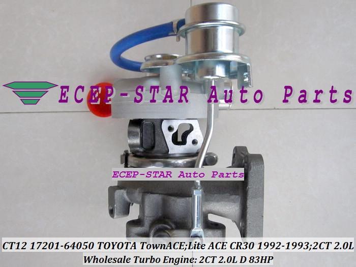 CT12 17201-64050 17201 64050 17201-64040 Turbocompresseur 17201-64020 - Pièces auto - Photo 3