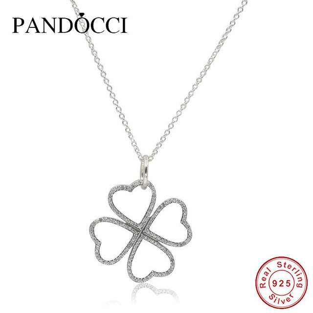 c83a7beb8771b US $26.89 |Sterling Silver Jewelry Petals of Love Necklace Pendants Charm  Necklaces for Women Original 925 Silver Women Jewelry with Logo-in Pendant  ...