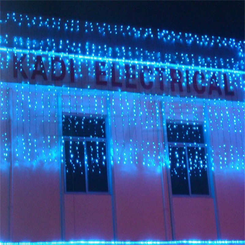3*3m LED String Light Lamps AC 110-220V Christmas tree Garland Curtain Garden Wedding party outdoor Holiday Lighting Supplies window curtain led string white lights 3m x3m for xmas wedding party decor 220v eu plug party decorations 304 led
