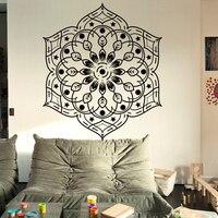 Islamic Mandala Yoga Art Wall Sticker Meditation India Buddha God Om Symnol Wall Decal Kids Room Living Room Hamesh Mural Vinyl