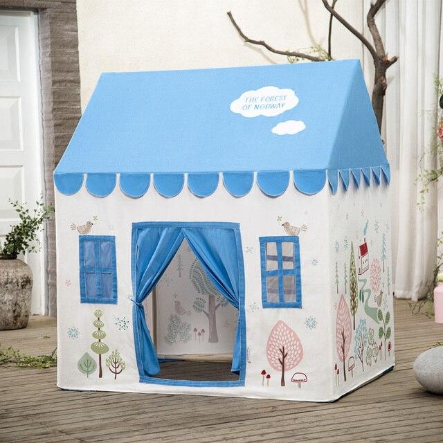 Tela de algod n interior de juegos para ni os carpa gran - Casas de tela para ninos ...