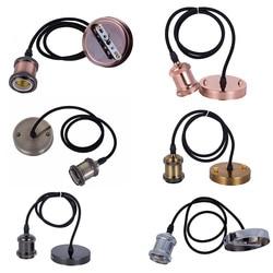 2019 Hot Selling Lamp Base E27 Vintage Retro Lamp Holder Pendant Bulb Light Screw Socket 6 Colors
