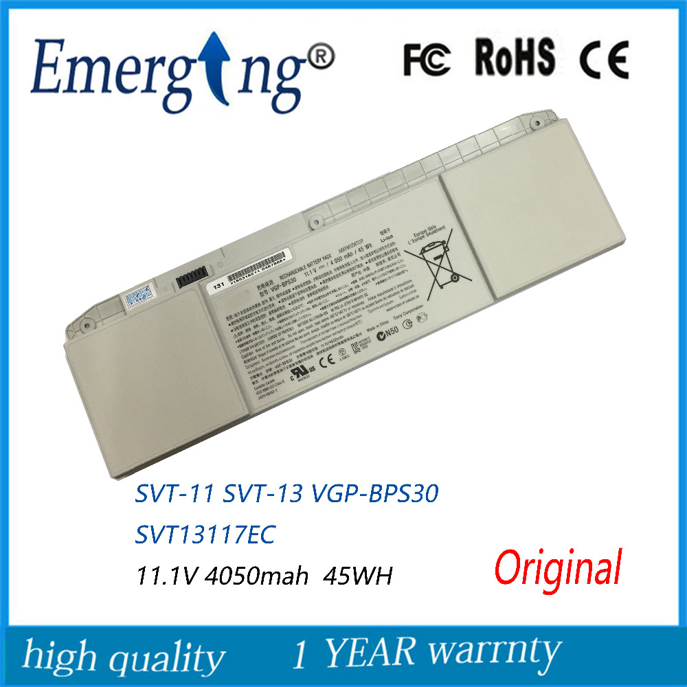 11.1V 45WH New Original Laptop Battery For SONY VGP-BPS30 VAIO T11 T13 SVT-11 SVT-13 BPS30 new original 11 25v 3140mah 36wh vgp bps41 battery for sony vaio flip 13 svf13n svf13n13cxb free shipping