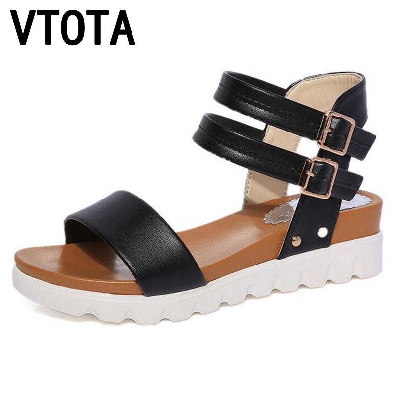 VTOTA Fashion Summer Sandals Women 2017 Women Sandals Wedges Open Toe Sandals Platform Soft Breathable Shoes Woman Shoes X407 summer shoes woman platform sandals women soft leather casual open toe gladiator wedges women nurse shoes zapatos mujer size 8