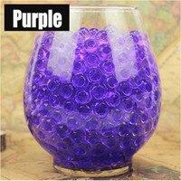 1kg 100000pcs Purple Pearl Shaped Crystal Soil Water Beads Mud Grow Magic Jelly Balls Wedding Home