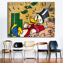 Alec Monopolyingly Happy Scrooge Mcduck Wall Art Canvas Posters and Prints Painting Pictures For Bedroom Modern Home Decor