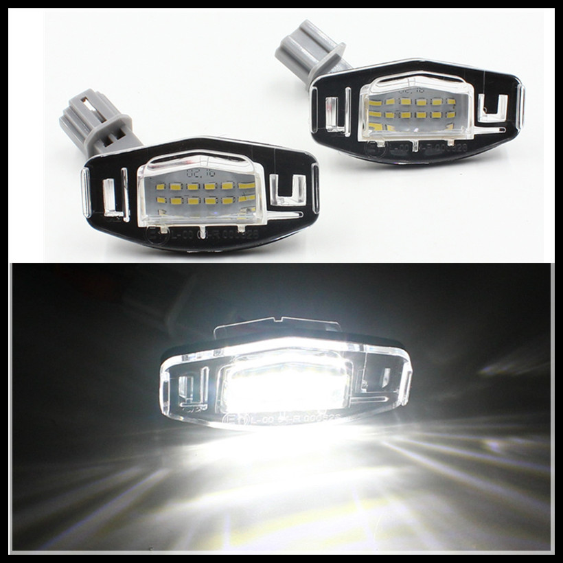 18 LED License Number Plate Lights tail Lamp for Honda Accord Legend City CIVIC Car Canbus LED License Plate Lights for Honda direct fit for kia sportage 11 15 led number license plate light lamps 18 smd high quality canbus no error car lights lamp